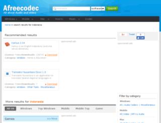 indonesia.afreecodec.com screenshot