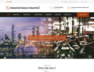 industrialgases.in screenshot