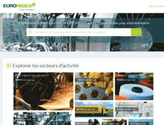 industrie-telecommunications.europages.fr screenshot
