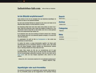 industriebau-info.com screenshot