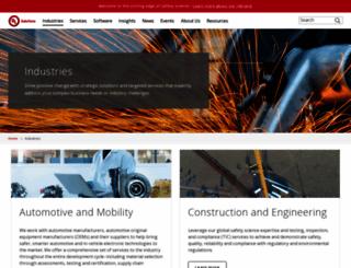 industries.ul.com screenshot
