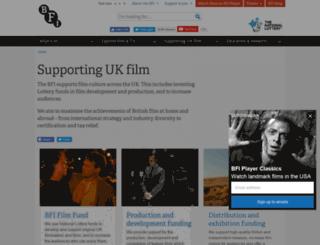 industry.bfi.org.uk screenshot