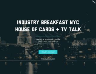 industrybreakfast.splashthat.com screenshot