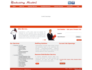 industrynaukri.com screenshot