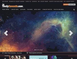 indyconcerts.com screenshot