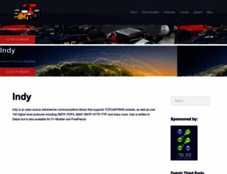 indyproject.org screenshot