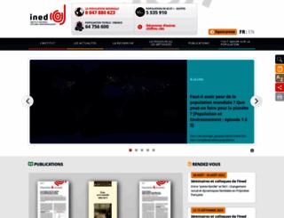 ined.fr screenshot