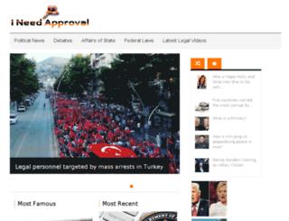 ineedapproval.com screenshot