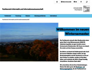 inf.uni-konstanz.de screenshot