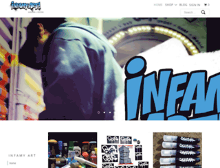 infamyart.com screenshot