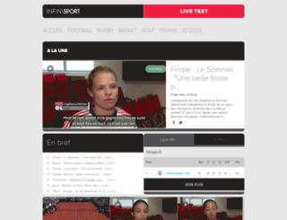infinisport.fr screenshot