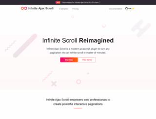 infiniteajaxscroll.com screenshot