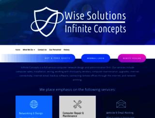 infiniteconcepts.com screenshot