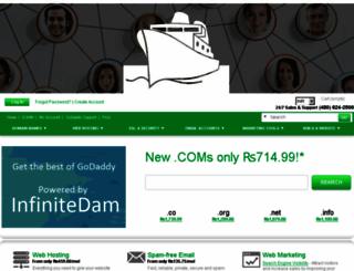 infinitedam.com screenshot