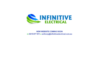 infinitiveelectrical.com.au screenshot