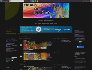 infinity-debris.4umotion.com screenshot