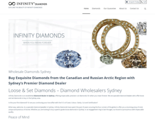 infinitydiamonds.com.au screenshot