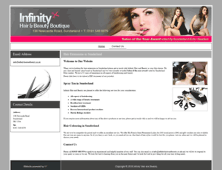 infinityhairandbeauty.co.uk screenshot