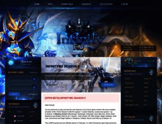 infinitymuonline.com screenshot