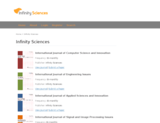 infinitysciences.org screenshot
