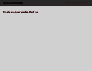 inflagrantedelicto.memoryspiral.com screenshot