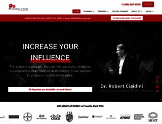 influenceatwork.com screenshot