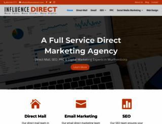 influencedirect.com screenshot