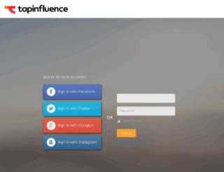 influencers.tapinfluence.com screenshot
