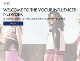 influencers.vogue.com screenshot