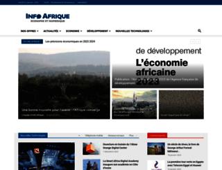 info-afrique.com screenshot