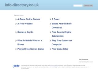 info-directory.co.uk screenshot