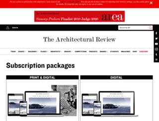 info.architectural-review.com screenshot