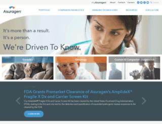 info.asuragen.com screenshot