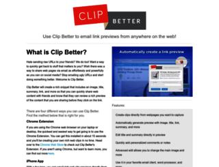 info.clipbetter.com screenshot