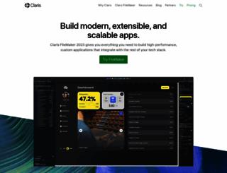 info.filemaker.com screenshot