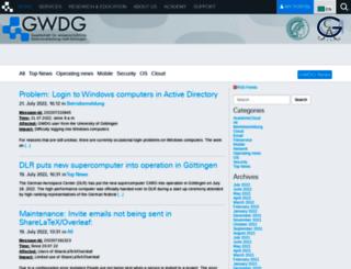 info.gwdg.de screenshot