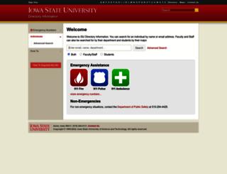 info.iastate.edu screenshot