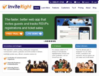 info.inviteright.com screenshot