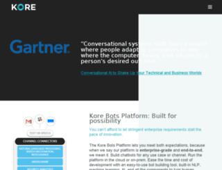 info.kore.com screenshot