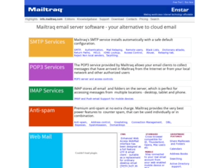 info.mailtraq.com screenshot