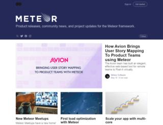 info.meteor.com screenshot