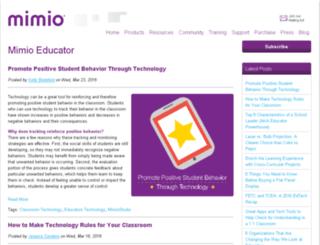 info.mimio.com screenshot