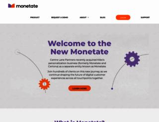info.monetate.com screenshot