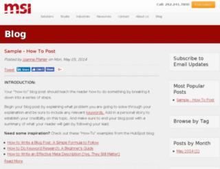 info.msidata.com screenshot