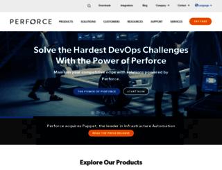 info.perforce.com screenshot