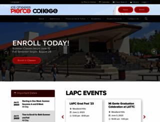 info.piercecollege.edu screenshot