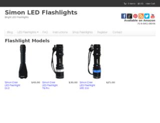 info.simonflashlights.com screenshot
