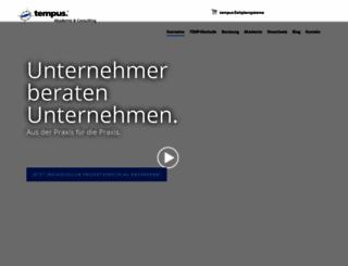 info.tempus.de screenshot