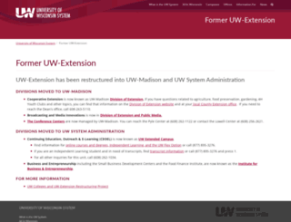 info.uwex.edu screenshot