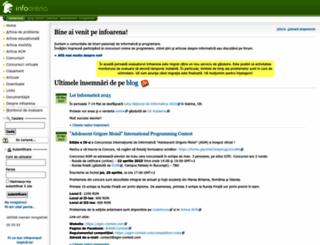 infoarena.ro screenshot